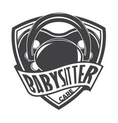Babysitter monochrome style vector