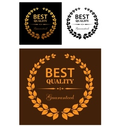Best quality guaranteed labels vector