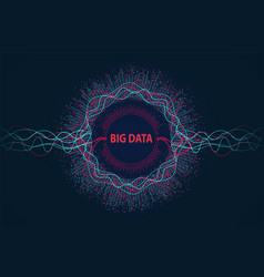 big data visual information flow vector image