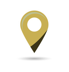 Black gps navigator point pin map flat icon vector