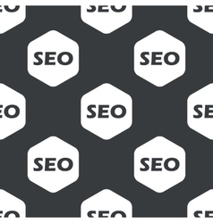 Black hexagon SEO pattern vector image