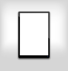 Black tablet pc computer blank white screen with l vector
