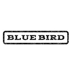 Blue bird watermark stamp vector