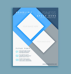 Blue corporate business annual report flyer vector