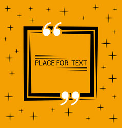 Box concept of dialogue in the blank speech quote vector