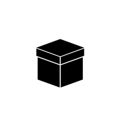 box flat icon vector image