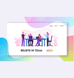 brainstorm website landing page creative people vector image