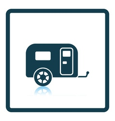 Camping family caravan car icon vector image