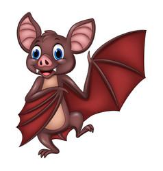 cartoon funny bat posing vector image