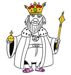 Cartoon medieval fantasy king vector