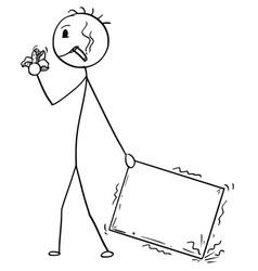 Cartoon of bad delivery man or businessman vector