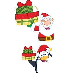 Cartoon santa design vector