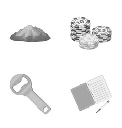 Casino travel and other monochrome icon in vector