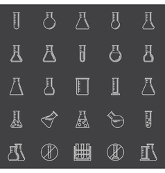 Chemical test-tube icons vector image