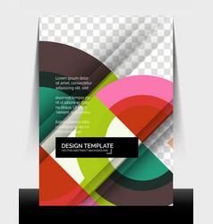 Circle design a4 flyer print template annual vector