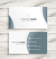 clean minimal business card vector image
