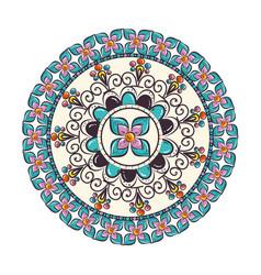 Colorful and circular mandala vector