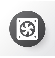 cpu fan icon symbol premium quality isolated vector image