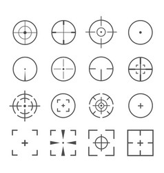 Crosshairs icon set vector