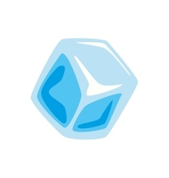 Cube icon Ice design graphic vector image