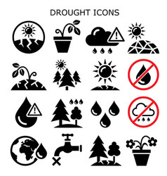 Drought natural disaster climate change i vector