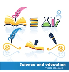 education and science symbols vector image