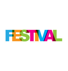 Festival phrase overlap color no transparency vector