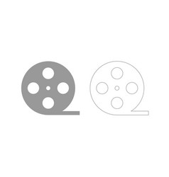 Film strip grey set icon vector