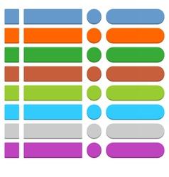 Flat empty web icon colored button vector