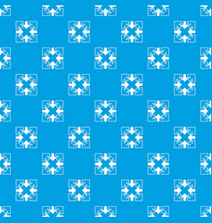 full screen arrows pattern seamless blue vector image