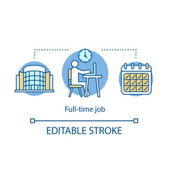 full-time job concept icon employment recruitment vector image