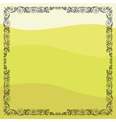 Grape vine frame vector