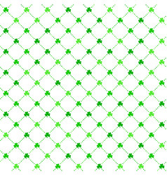 green clover leaves patrick day background vector image