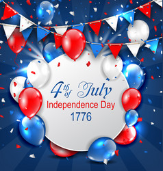 Greeting card for american independence day 4th vector