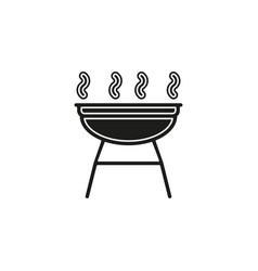 grill icon - barbecue party - picnic symbol vector image