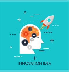 innovation idea flat concept vector image