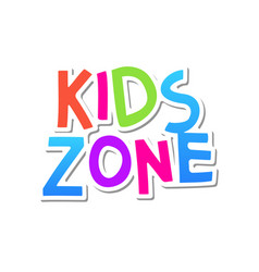 Kid zone fun banner background kids game vector