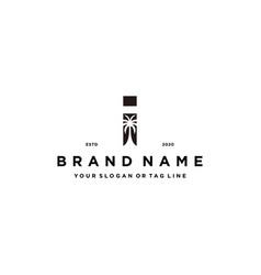 Letter i palm logo design concept vector