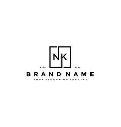 Letter nk logo design vector