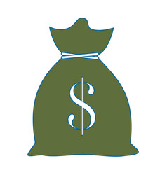 Money bag isolated vector