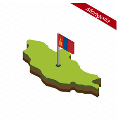 Mongolia isometric map and flag vector