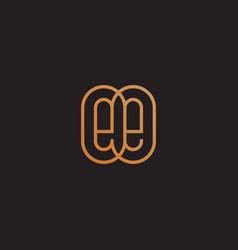 monogram ee vector image