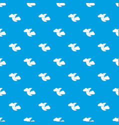 moon and clouds pattern seamless blue vector image