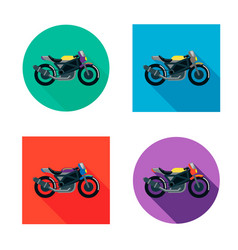 Motorcycles set in flat style vector