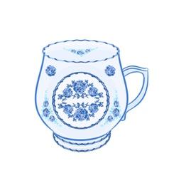 Mug-of-faience vector