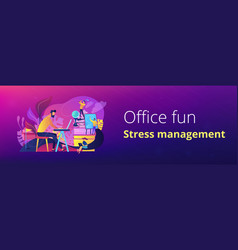office fun header or footer banner vector image