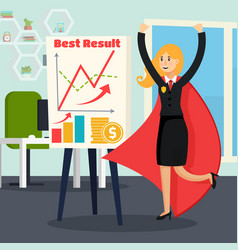 Office superhero orthogonal composition vector