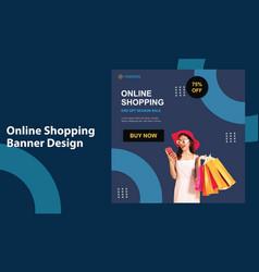Online fashion shop shopping super sale social med vector