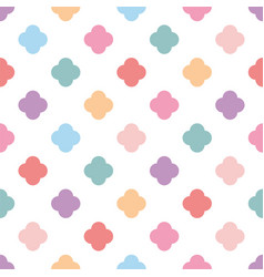 pastel seamless pattern or tile fashion background vector image