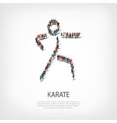 People karate vector